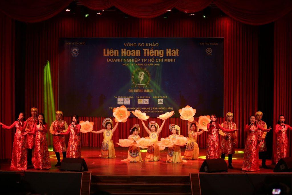 Đối Tác Chân Thật tham dự cuộc thi Liên hoan tiếng hát Doanh nghiệp TP.HCM năm 2018 – Giải thưởng LADALAT