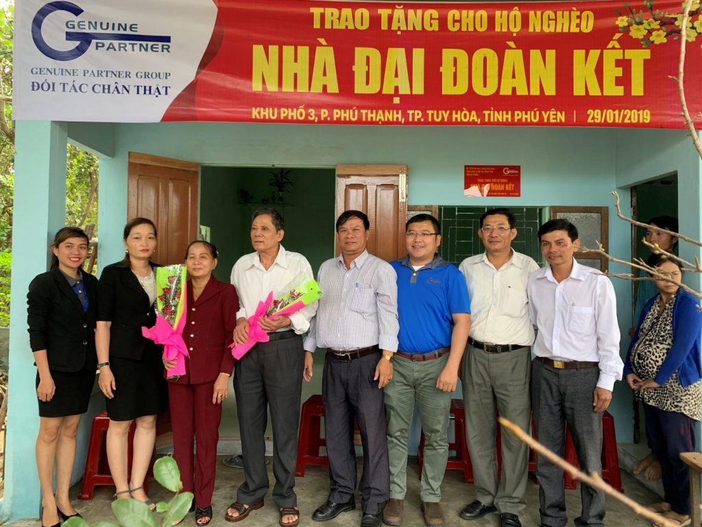 Đối Tác Chân Thật trao tặng 2 căn nhà Đại đoàn kết cho hộ dân nghèo tại Phú Yên